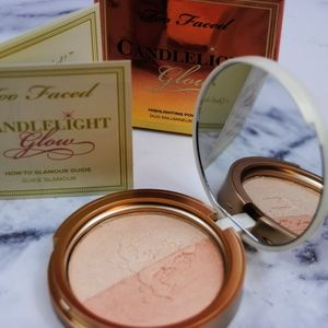 NWB-Too Faced Candlelight Glow Highlighting Duo
